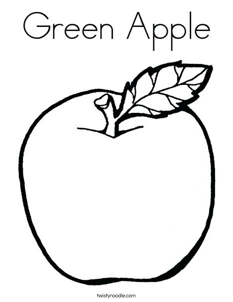 468x605 Apple Coloring Pictures Green Apple Coloring Page Fruit Coloring