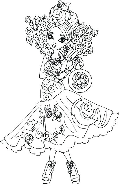 415x640 Free Printable Ever After High Coloring Pages Apple White