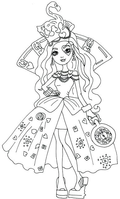 388x640 Free Printable Ever After High Coloring Pages Lizzie Hearts Eah