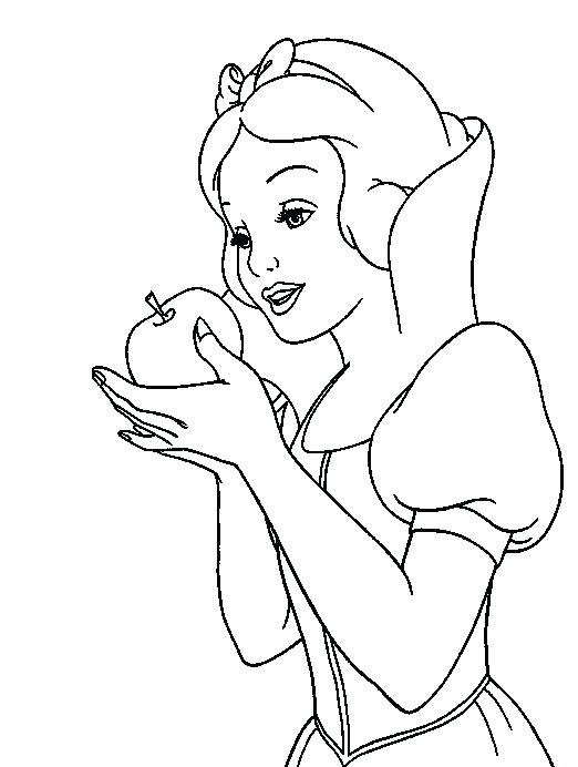 522x692 Snow White Coloring Page Snow White Color Pages Snow White