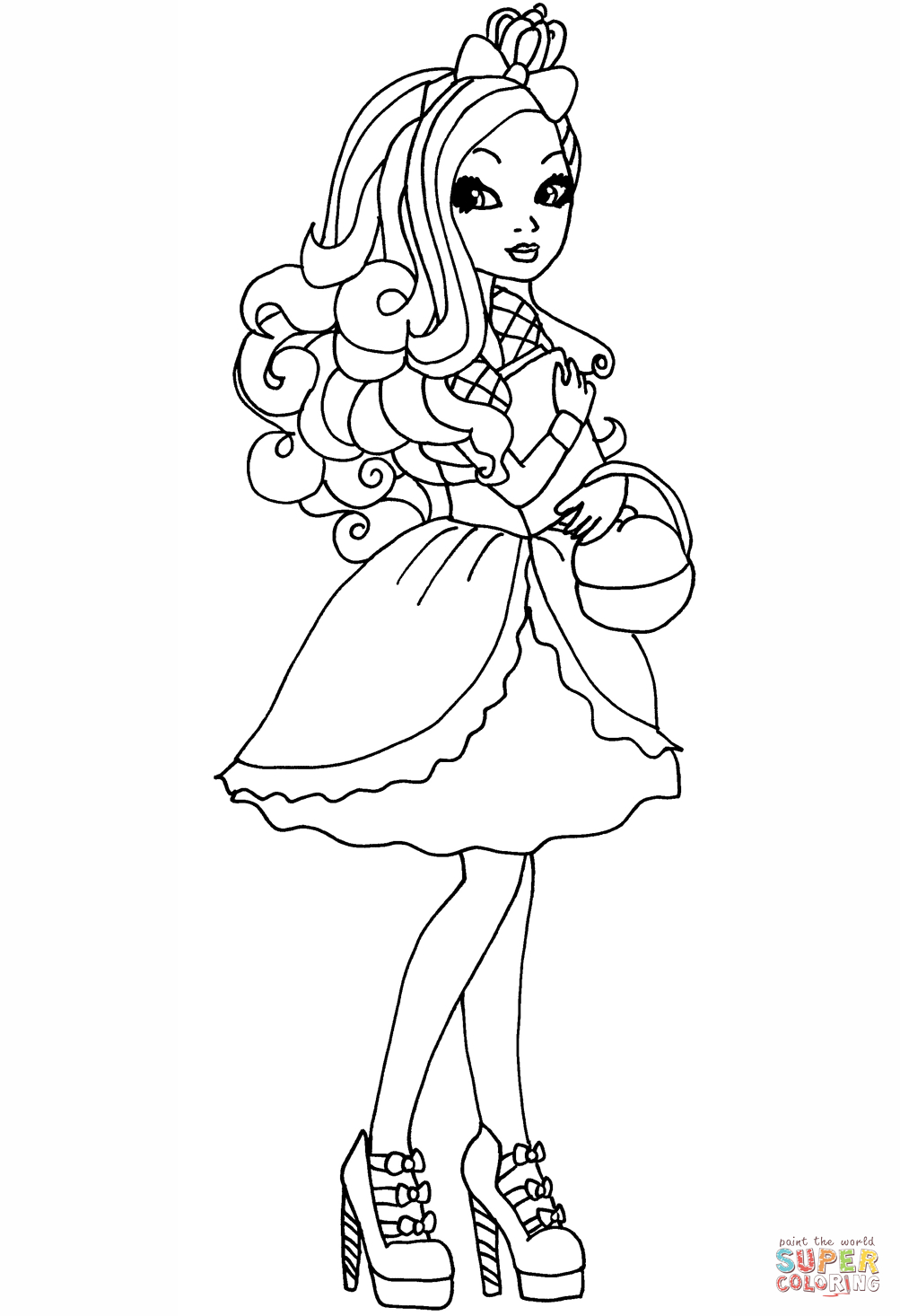 1003x1466 Apple White Coloring Page Ever After High Apple Coloring Page