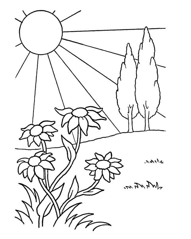 April Showers Bring May Flowers Coloring Page at ...
