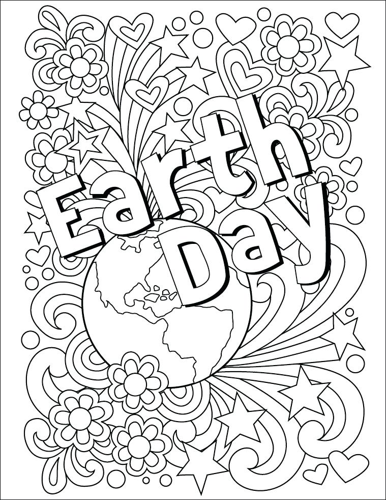 759x982 April Coloring Pages Earth Day Coloring Page Free Download