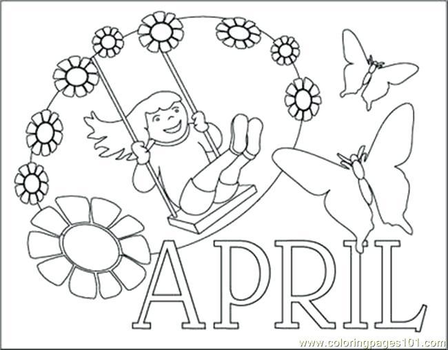 650x508 April Coloring Sheets