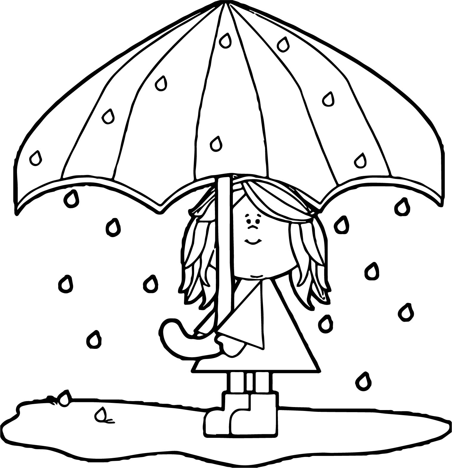 1516x1567 April Showers Coloring Pages Lovely Free Umbrella Rain Coloring