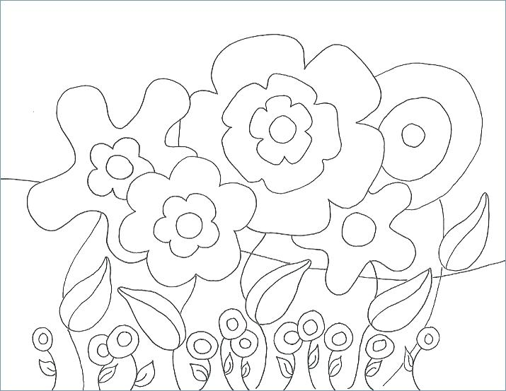 715x553 April Showers Coloring Sheets Coloring Pages Spring Flowers