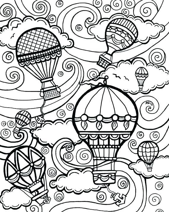 570x713 April Showers Coloring Pages