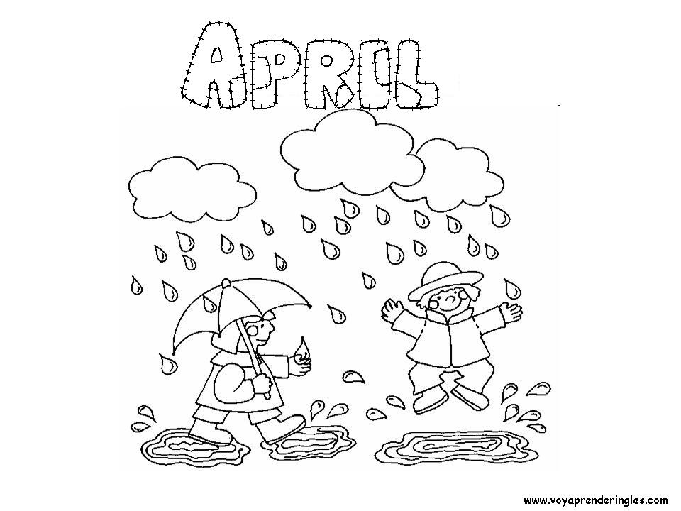 960x720 April Coloring Pages Awesome April Calendar Page Free Printable