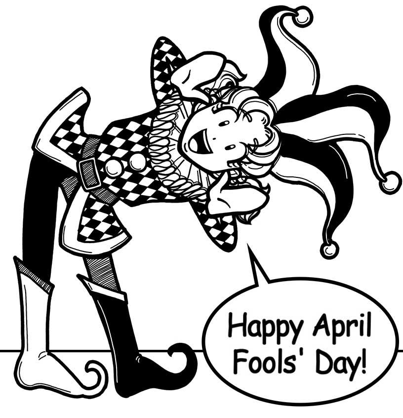 April Fools Coloring Pages