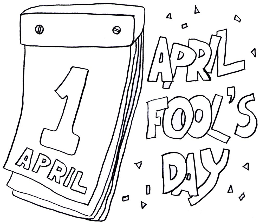1000x855 April Fool's Day Coloring Pages For Childrens Printable For Free