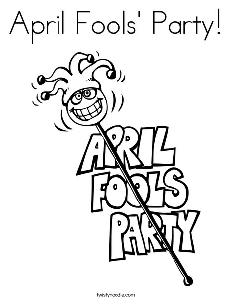 468x605 April Fools' Party Coloring Page
