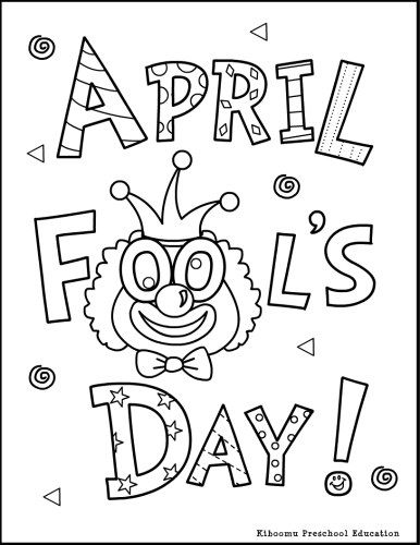 386x500 April Fools Coloring Page And April Fools Song For Preschool