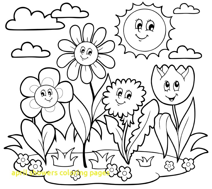 741x660 April Showers Coloring Pages With Impressive Design April Coloring