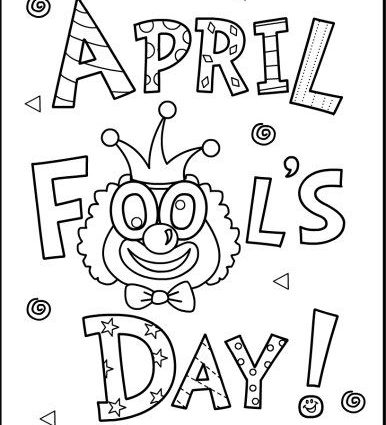 386x425 Abril Is April Coloring Page April Fools Coloring Page And April