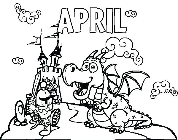 600x470 April Coloring Pages Kids Coloring Page Coloring Pages Awesome