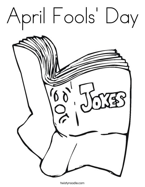 468x605 April Fools' Day Coloring Page