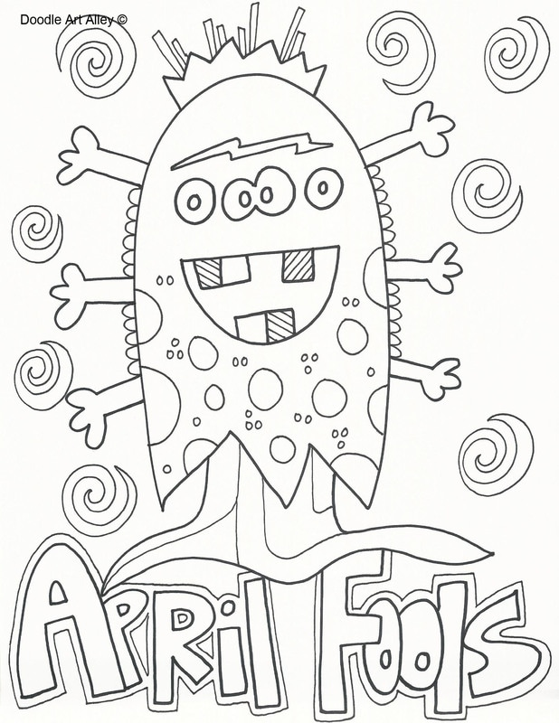 618x800 April Fools Day Coloring Pages