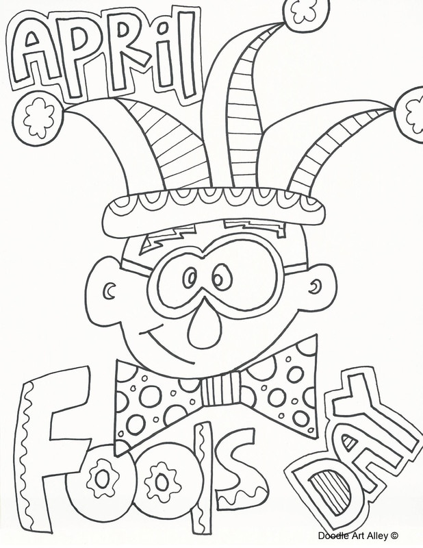 618x800 April Coloring Sheets April Fools Day Coloring Pages Doodle Art