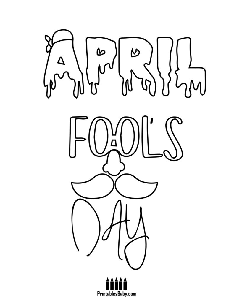 791x1024 Glasses Nose Beard April Fools Day Coloring Pages Printablesbaby