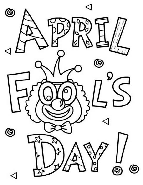 600x777 Happy April Fools Day Coloring Page Color Luna