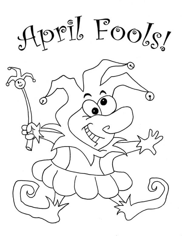 600x776 Look Out For April Fools Day Coloring Page Color Luna