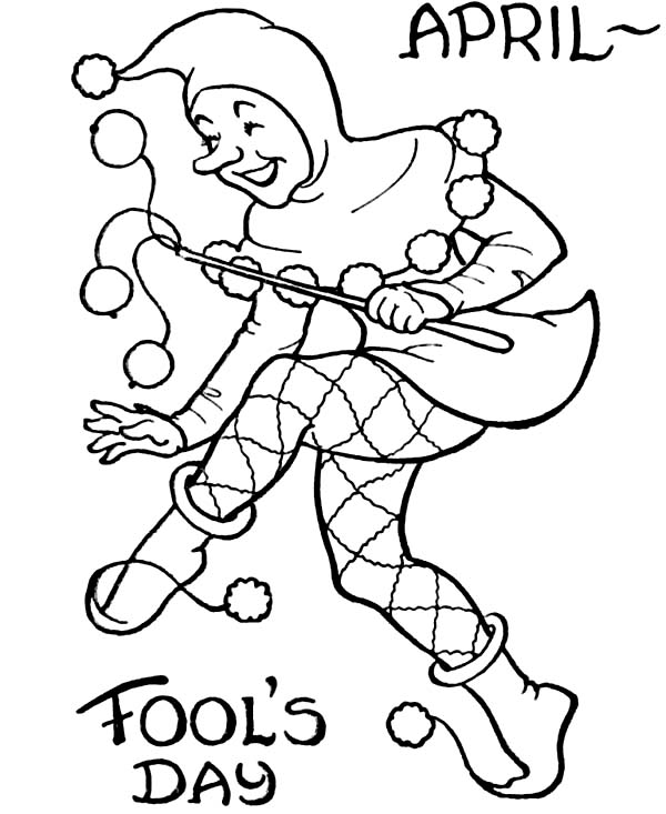 600x733 Picture Of April Fools Day Coloring Page Color Luna