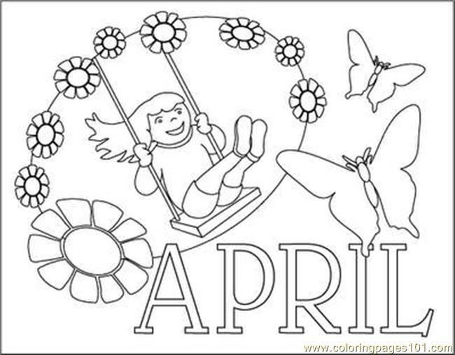 650x508 April Coloring Pages