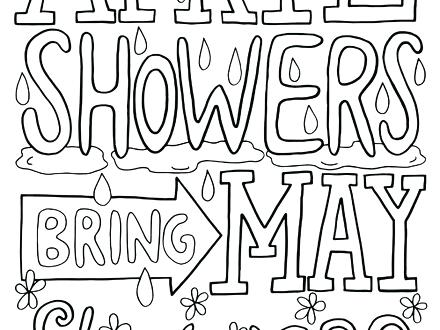 440x330 April Showers Coloring Pages Shower Snoopy Coloring Page April