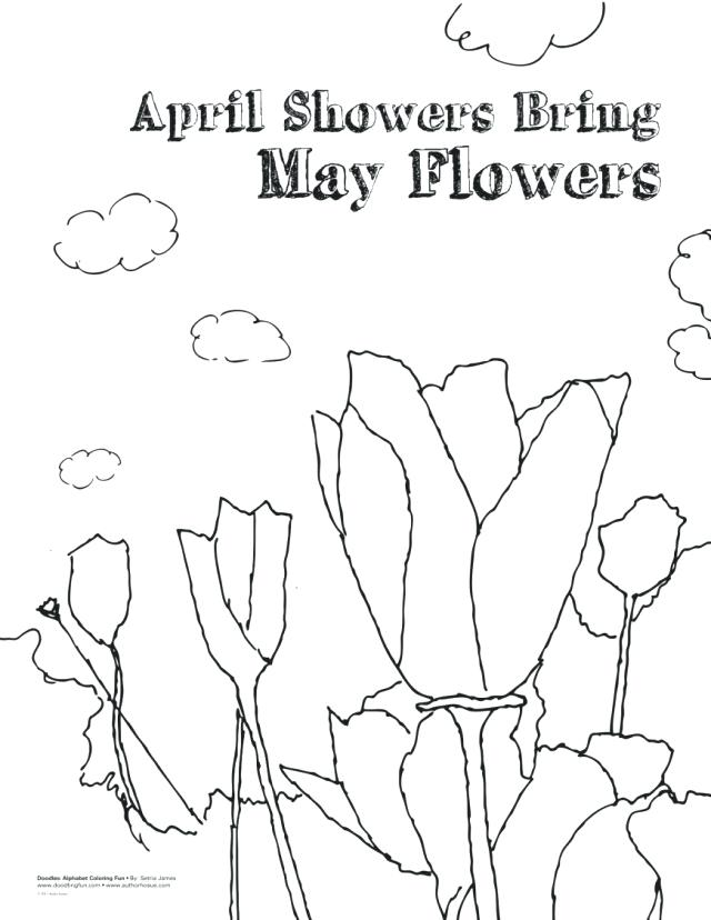 640x828 April Showers Coloring Sheets Coloring Pages Spring Flowers