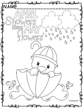 270x350 Spring Coloring Pages April Showers Bring May Flowers
