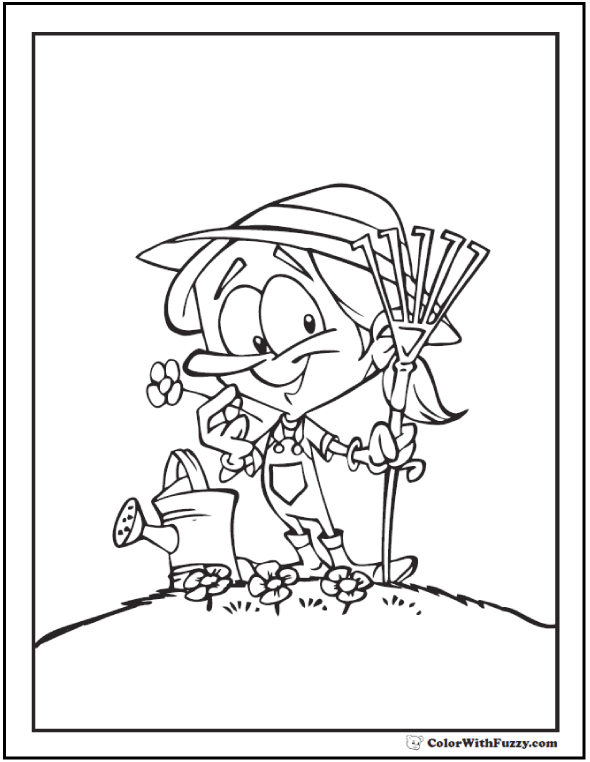 590x762 Spring Flowers Coloring Page Customizable Printables