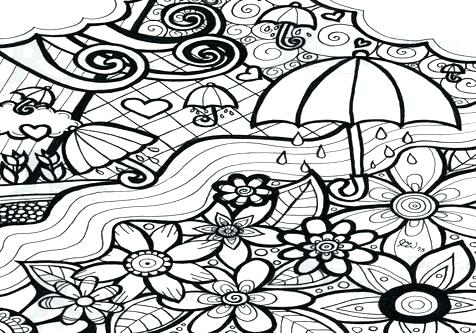 476x333 April Showers Bring May Flowers Coloring Page Shower Before