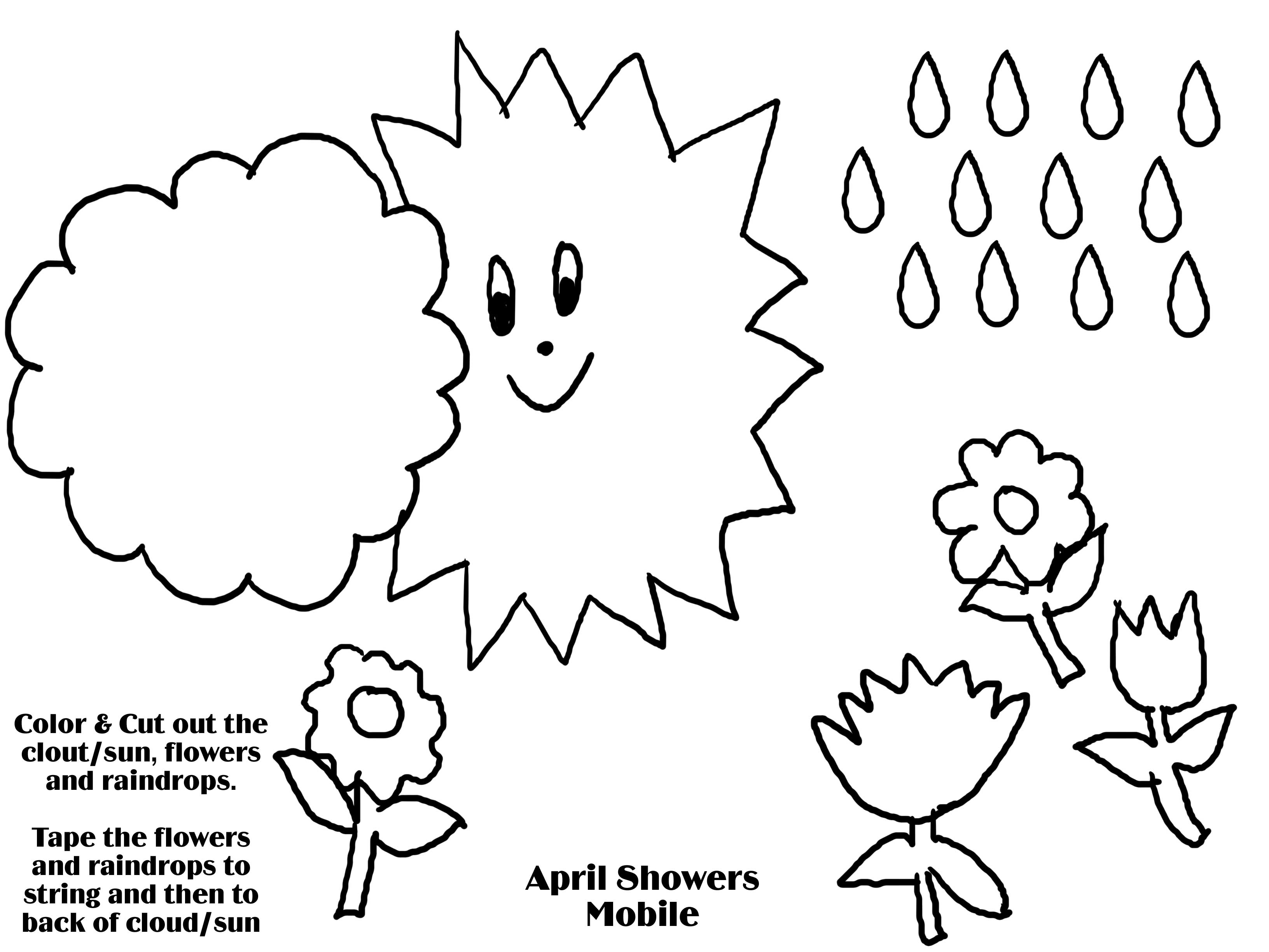 3264x2448 April Showers Bring May Flowers Coloring Pages