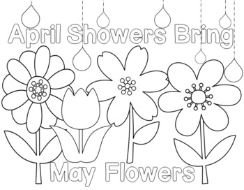 350x272 April Showers Bring May Flowers Printable