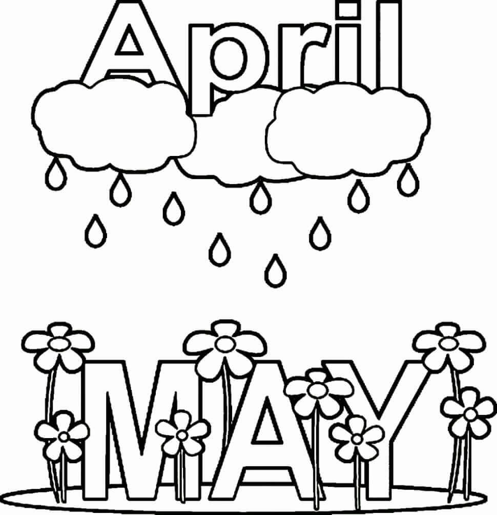 April Coloring Pages - GetColoringPages.com | 1004x970