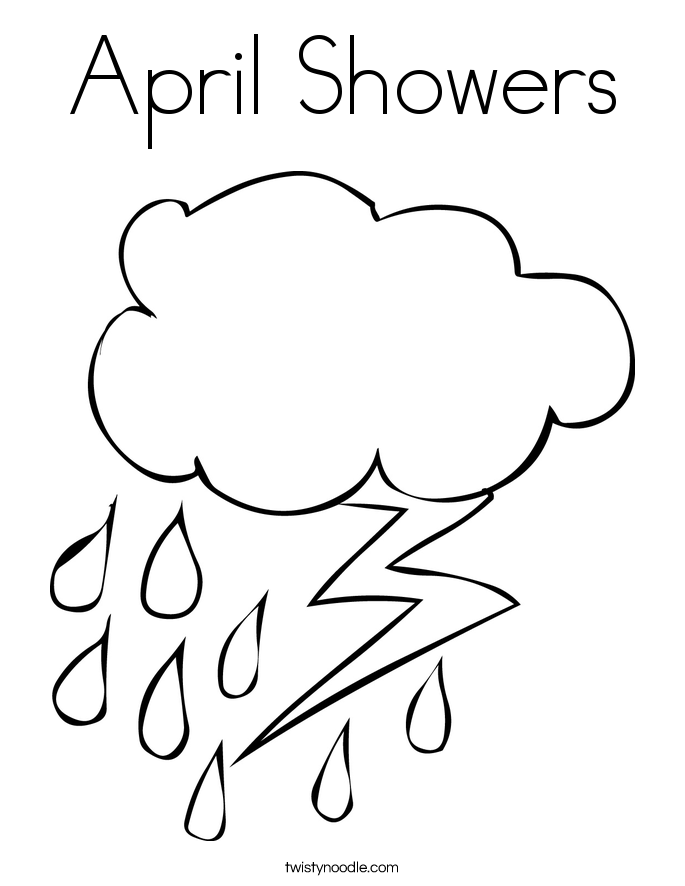 April Showers Coloring Pages at GetDrawings.com | Free for ...