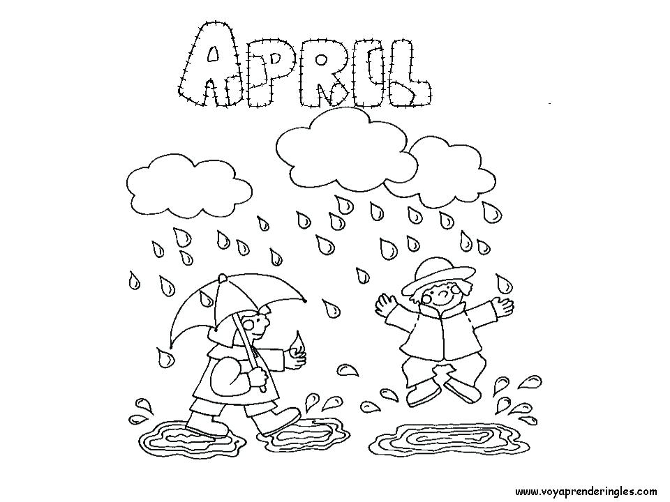 960x720 April Coloring Sheets April Shower Bring May Flower On Springtime