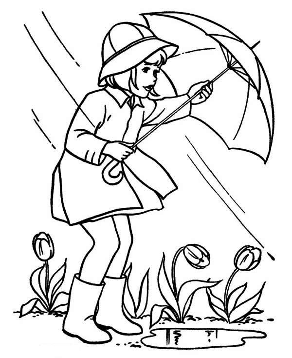 600x734 April Showers Coloring Pages Faaliyet April
