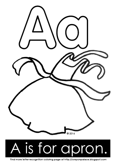 473x657 A Is For Apron Alphabet Coloring Page Crayon Palace