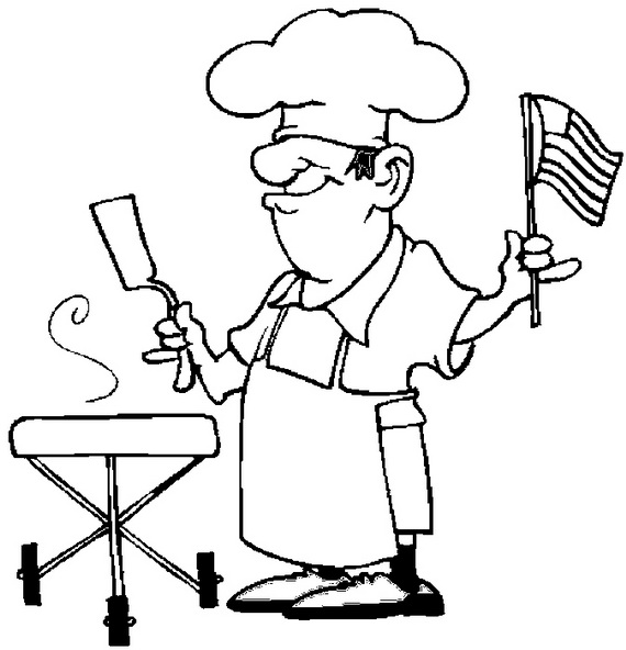 570x592 Independence Day Coloring Pages