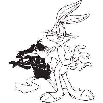 400x400 Bugs Bunny Lunar Tunes Daffy Duck Bugs Bunny And Daffy Duck T