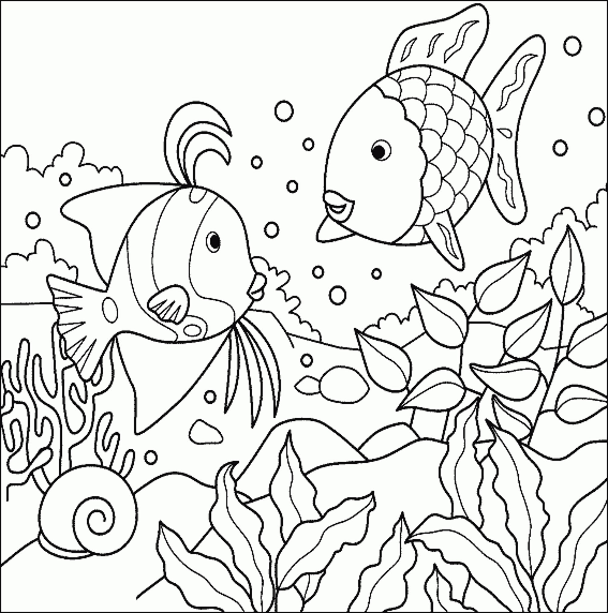 2000x2018 Aquarium Fish Coloring Pages Free Coloring For Kids