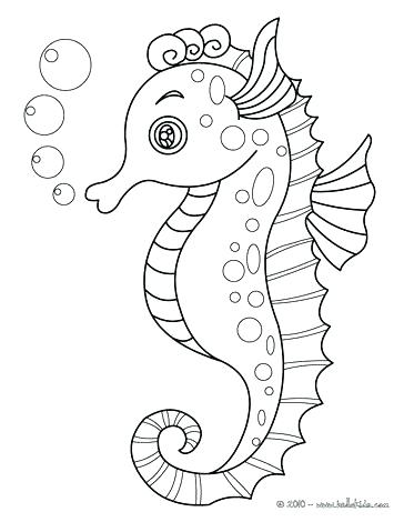 364x470 Marine Life Coloring Pages Sea Life Coloring Pages Cute Seahorse