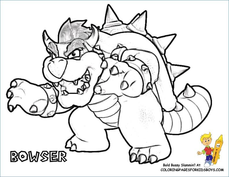 792x612 Mario Coloring Pages Super Mario Galaxy