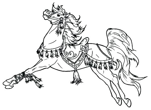 600x438 Printable Horse Coloring Pages Luxury Carousel Horse Coloring Page