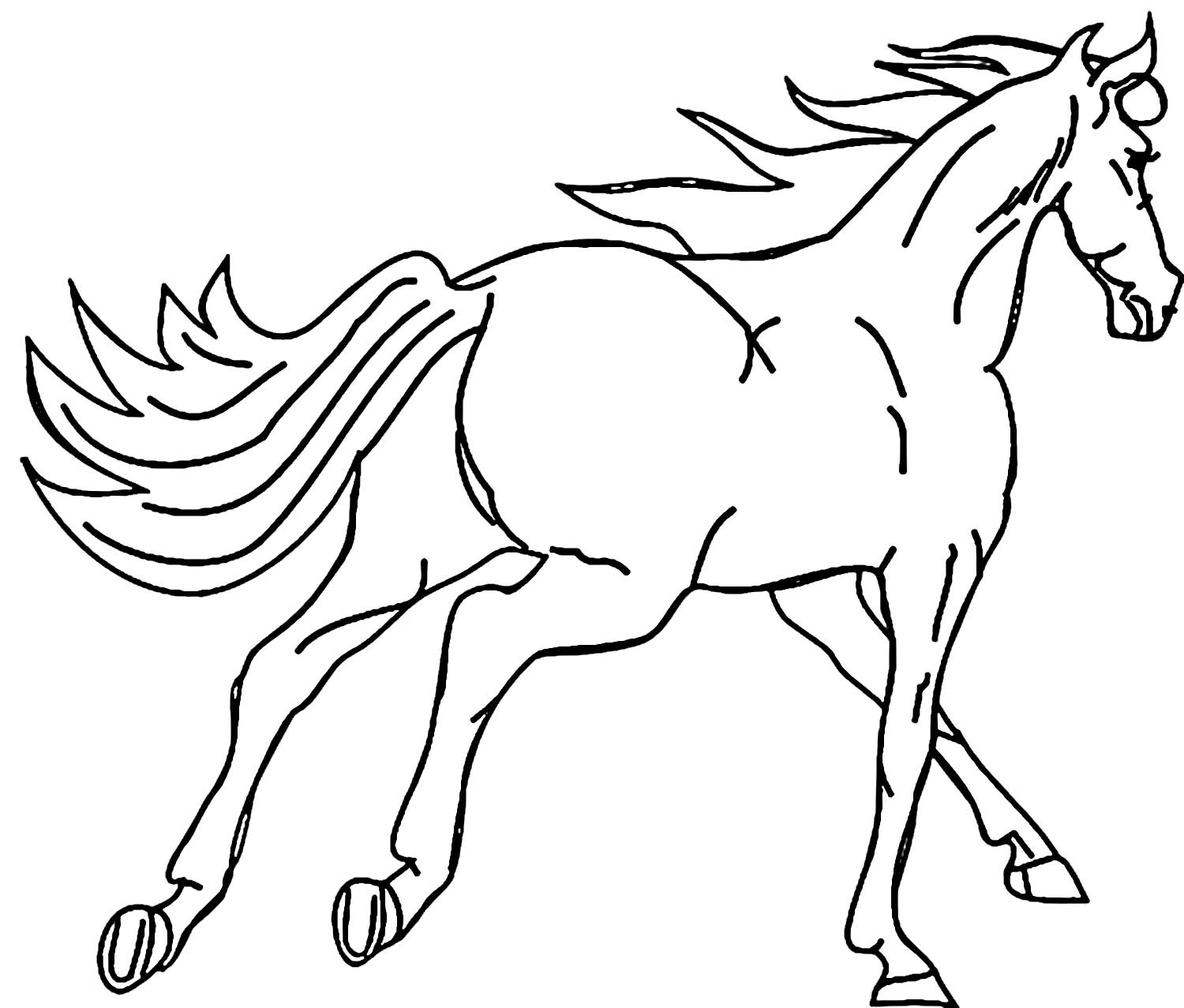 1500x1277 Arabian Horse Coloring Page