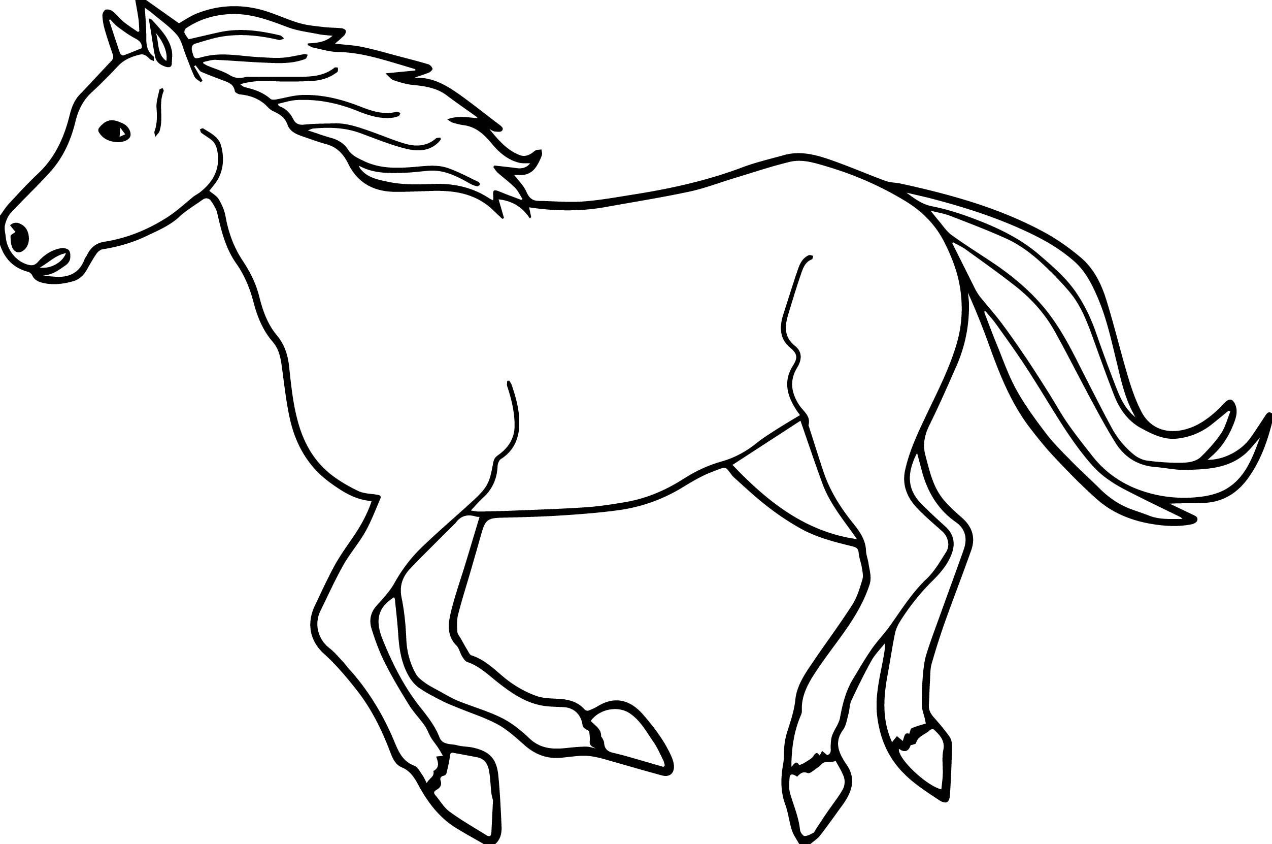 2506x1662 Running Arabian Horse Coloring Page Wecoloringpage Pleasing Pages