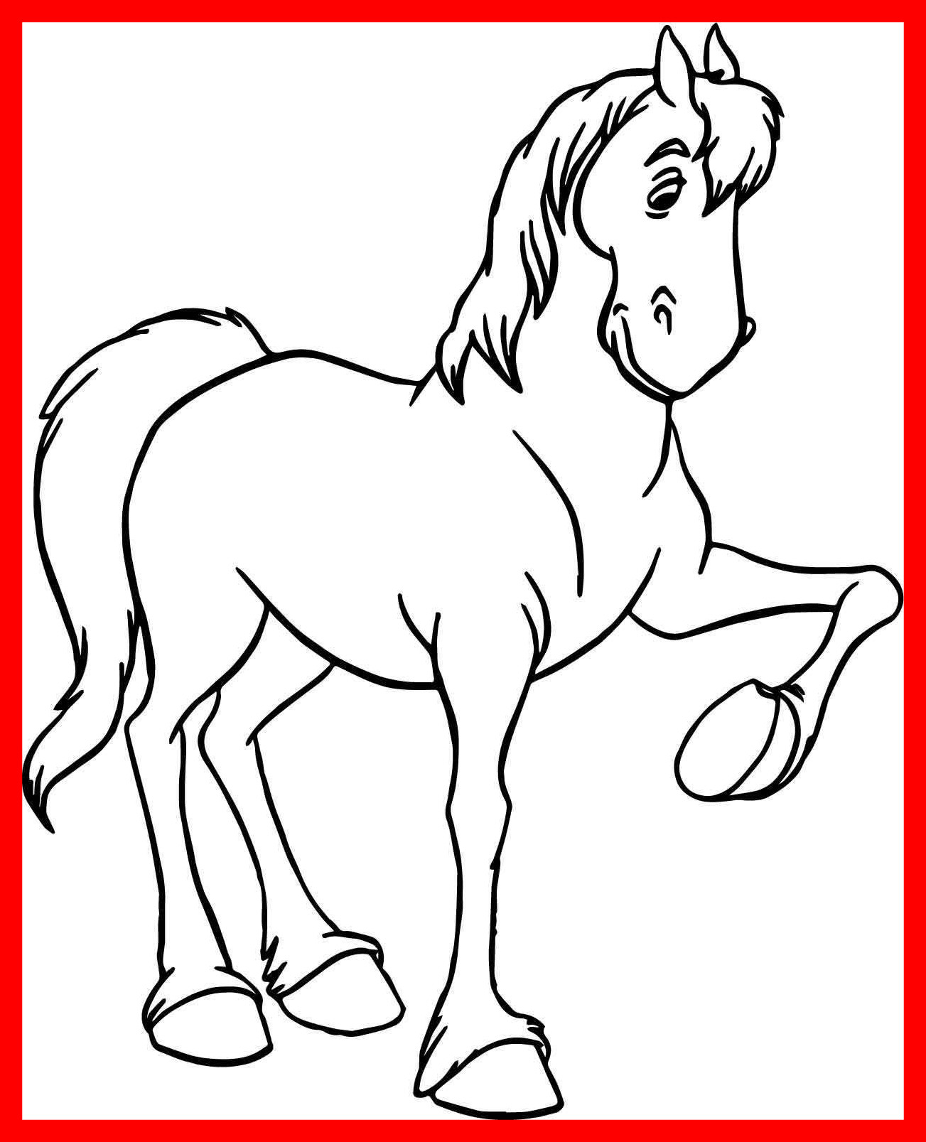 1303x1607 Shocking Cartoon Arabian Horse Coloring Page Wecoloringpage Pict