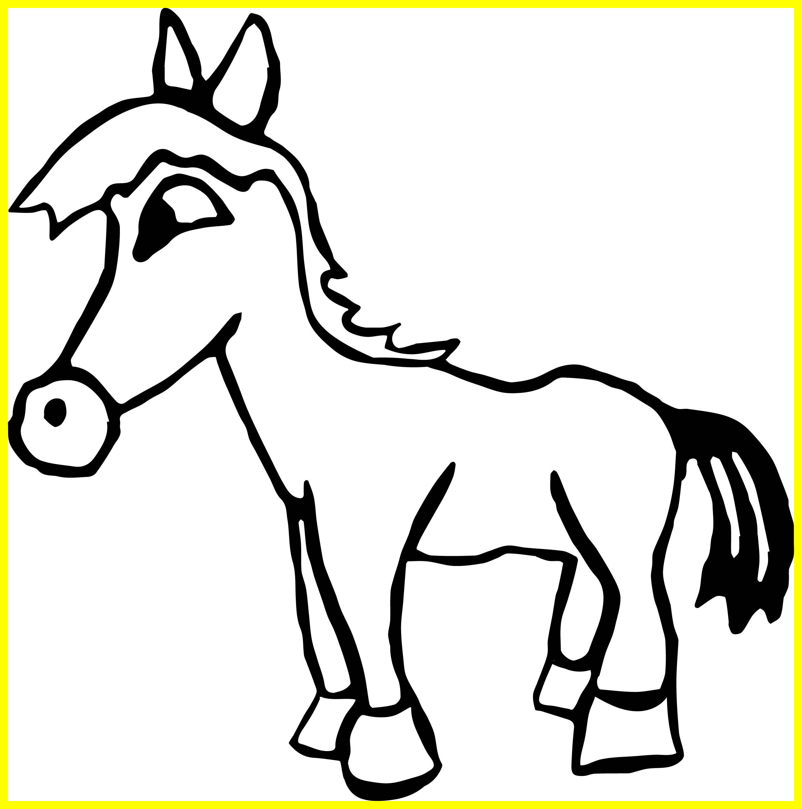 2549x2570 The Best Arabian Horse Coloring Pages Draw To Color Of Small Style