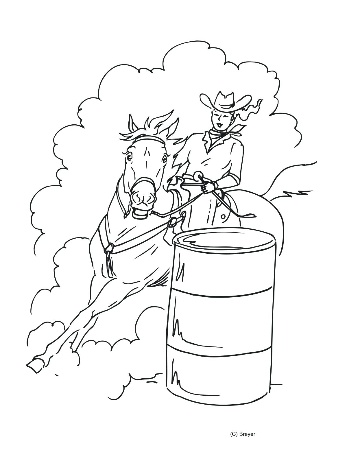 1200x1632 Coloring Pages Horses Coloring Pages Barrel Racing Realistic